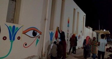 طلاب جامعة أسوان يدشنون مبادرة لتجميل مدينة أبوسمبل السياحية